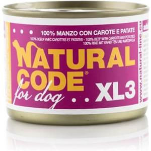 Natural Code XL3 Manzo Carote e Patate per Cane