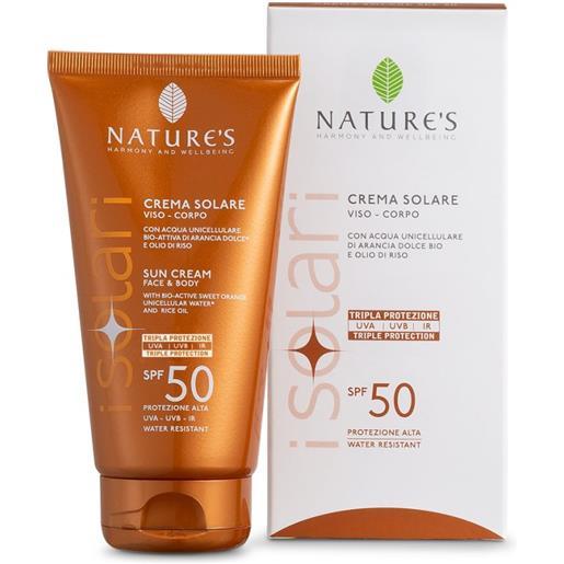 Nature's I Solari Crema Solare Viso e Corpo SPF50 150ml