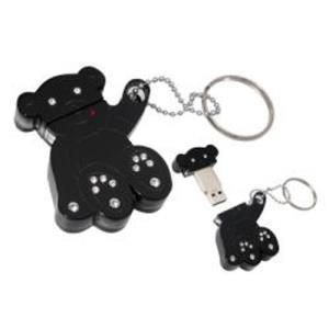 Nilox Swarovsky Pen Drive 2 GB Black Bear
