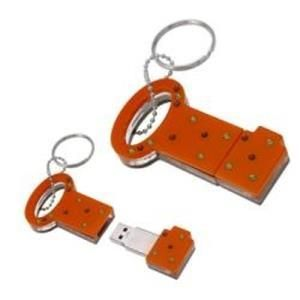 Nilox Swarovsky Pen Drive 4 GB Orange Key