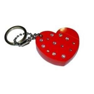 Nilox Swarovsky Pen Drive 4 GB Red Heart