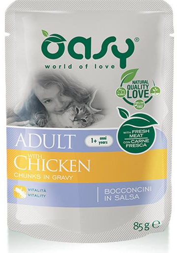 Oasy Cat Adult Bocconcini (Pollo) - umido