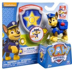 Paw Patrol Action Pack Pup + Badge