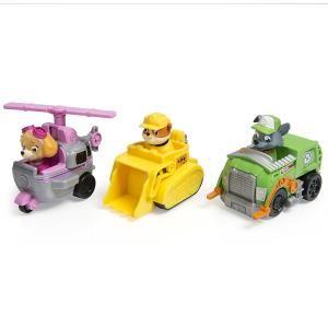 Paw Patrol Set 3 veicoli - Rubble, Rocky, Skye