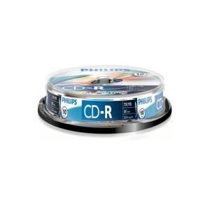 Philips CD-R 80 Min. 52x (10 pcs cakebox)