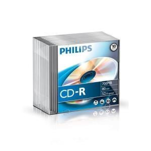 Philips CD-R 80 Min. 52x (10 pcs) Slim