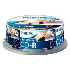 Philips CD-R 90 Min. (25 pcs cakebox)