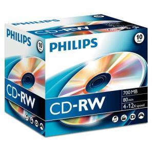 Philips CD-RW 80 Min. 12x (10 pcs)
