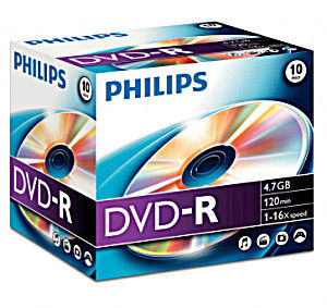 Philips DVD-R 4,7 GB 16x (10 pcs)