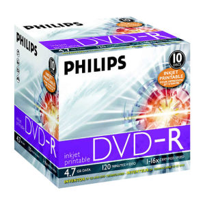 Philips DVD+R 4,7 GB 16x (10 pcs) Printable