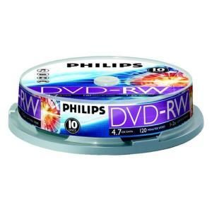 Philips DVD-RW 4,7 GB 2x (10 pcs cakebox)