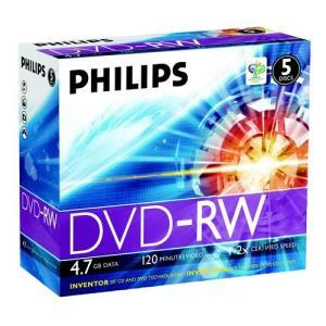 Philips DVD-RW 4,7 GB 2x (5 pcs)