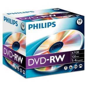Philips DVD+RW 4,7 GB 4x (10 pcs)