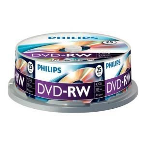 Philips DVD-RW 4,7 GB 4x (25 pcs cakebox)
