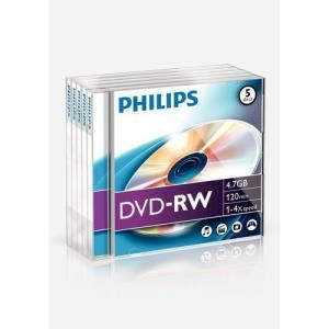 Philips DVD-RW 4,7 GB 4x (5 pcs)