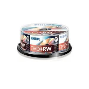 Philips DVD+RW 4.7 GB 4x (25 pcs Cakebox)