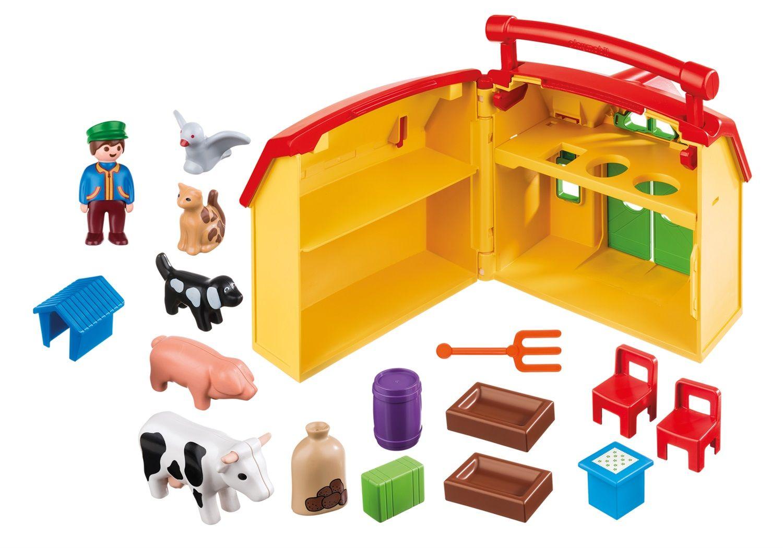 Playmobil 1.2.3 Fattoria portatile apri e gioca