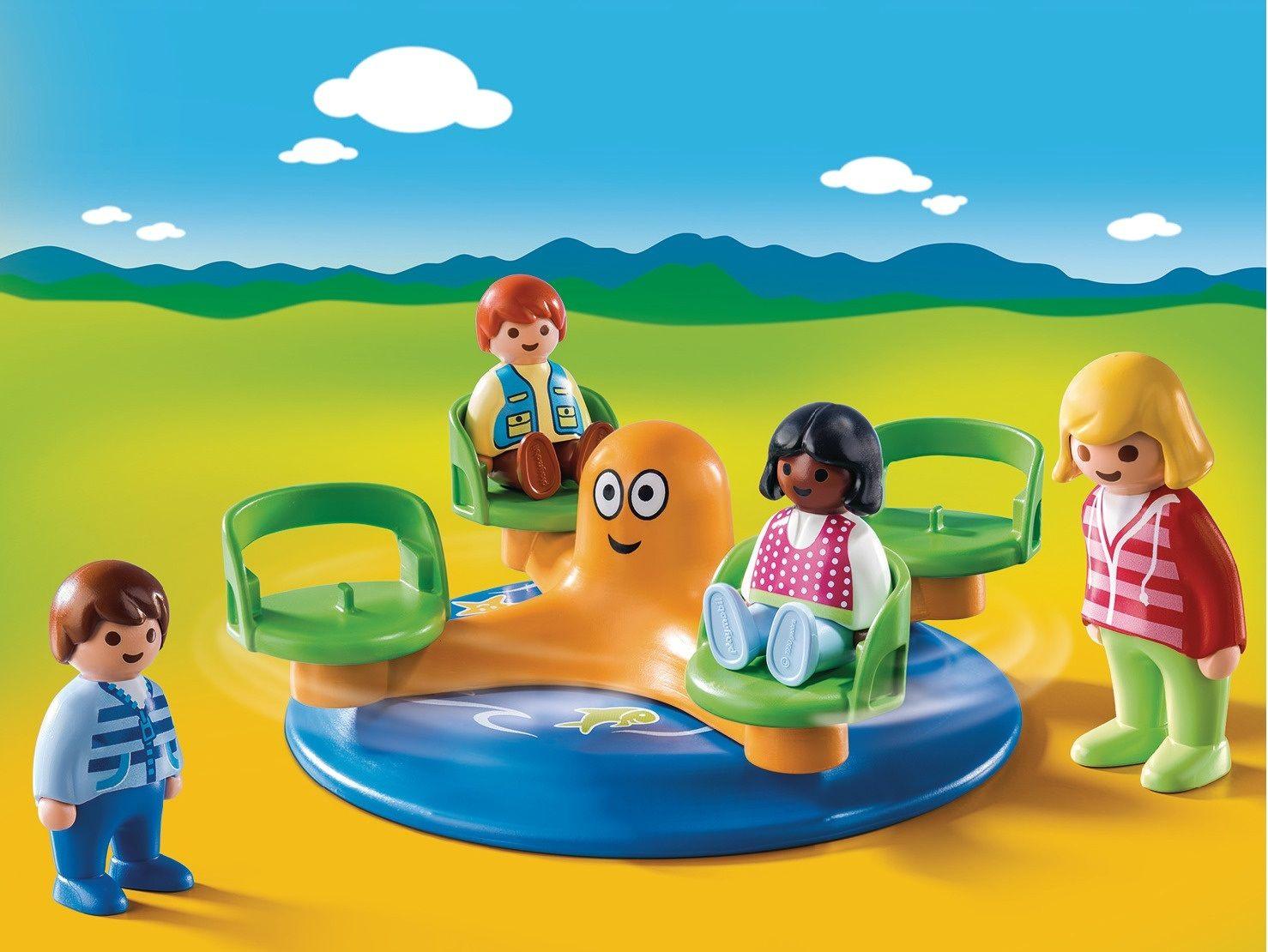 Playmobil 1.2.3 Giostra dei bambini
