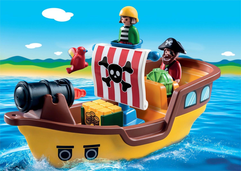 Playmobil 1.2.3 Nave dei Pirati