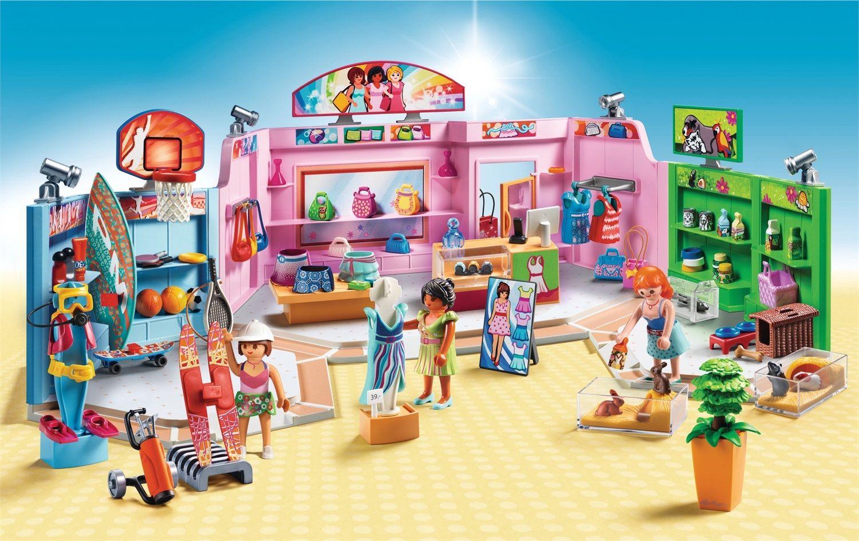 Playmobil City Life Galleria con 3 negozi