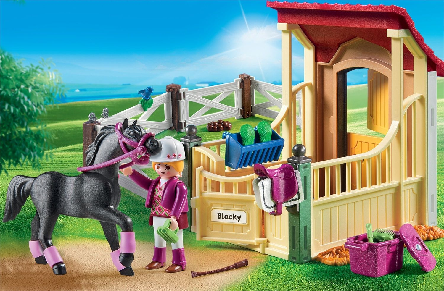Playmobil Country Stalla con cavallo Arabo