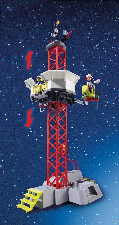 Playmobil Space Razzo spaziale con rampa di lancio