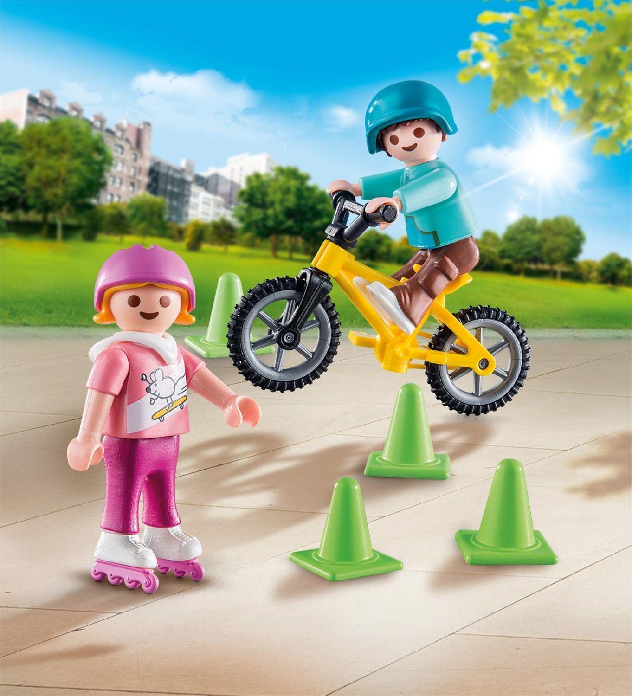 Playmobil Special Plus Bambini con pattini e BMX