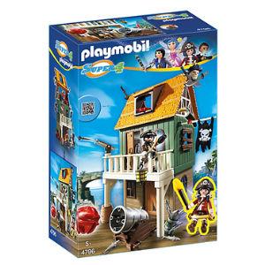 Playmobil Super 4 Forte dei pirati mimetico