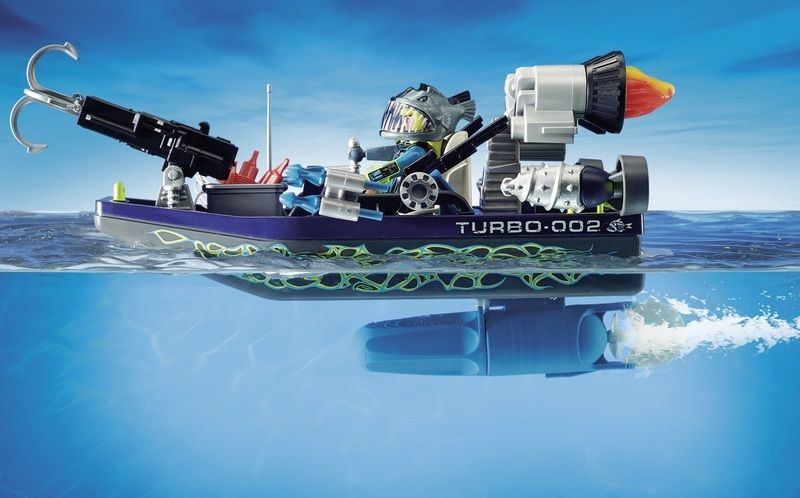 Playmobil Top Agents Barca da assalto con arpione