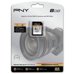 PNY Professional Series Hi-Speed SDHC 8 GB