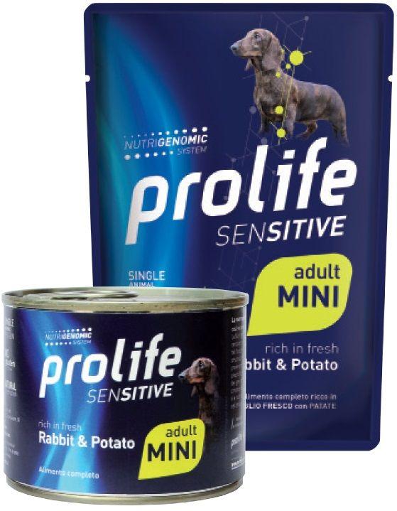 Prolife Sensitive Adult Mini (Coniglio e Patate) - umido 100g