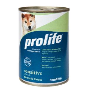 Prolife Sensitive Cane Adult All Breeds (Renna Patate) - umido