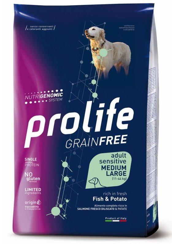 Prolife Sensitive Grain Free Medium Large (Pesce e Patate) - secco 12Kg