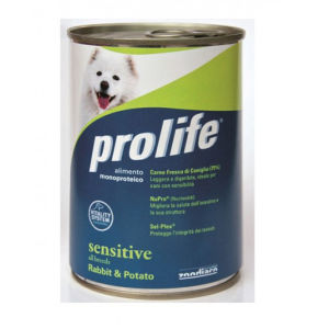 Prolife Sensitive per Cani Coniglio e Patate - umido