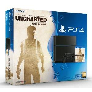 Sony PlayStation 4 (500 GB) + Uncharted: The Nathan Drake Collection