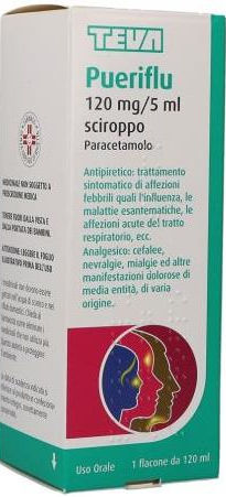 Teva Pueriflu 120mg/5ml sciroppo flacone 120ml