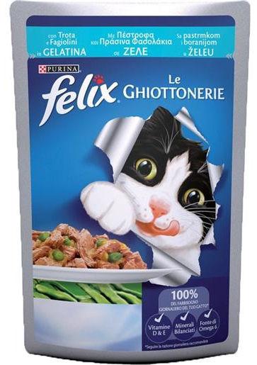 Purina Felix Le Ghiottonerie in gelatina (Trota e Fagiolini) - umido