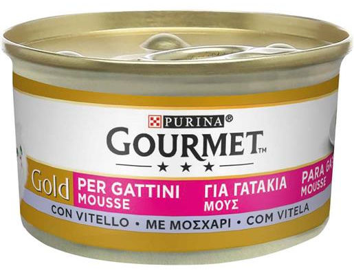 Purina Gourmet Gold Mousse Kitten con Vitello