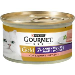 Purina Gourmet Gold Mousse +7 Anni con Salmone