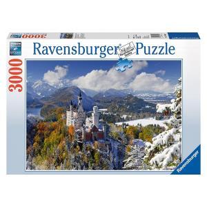 Ravensburger Castello di Neuschwanstein in Inverno