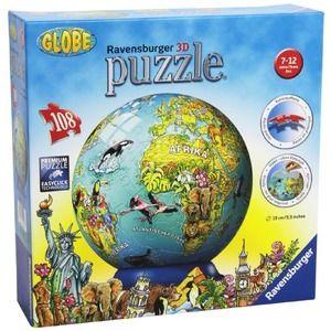 Ravensburger mappamondo globe 108pz