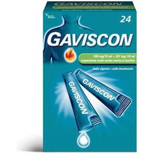 Reckitt Benckiser Gaviscon 500mg+267mg 24 bustine