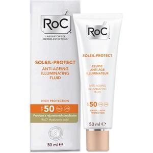 Roc Soleil Protect Fluida Viso Anti Età Illuminante SPF50