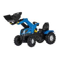 Rolly Toys Trattore a pedali FarmTrac New Holland con ruspa (611270)