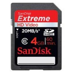 SanDisk Extreme HD Video SDHC 4 GB