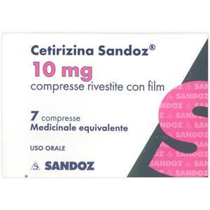 Sandoz Cetirizina 7 compresse rivestite 10mg