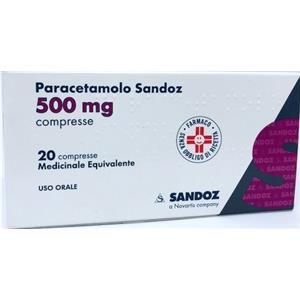 Sandoz Paracetamolo 20 compresse 500mg