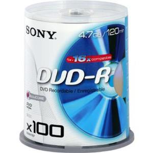 Sony DVD-R 4.7 GB 16x (100 pcs)