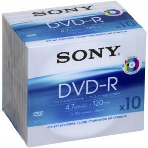 Sony DVD-R 4.7 GB 16x (10 pcs) Printable