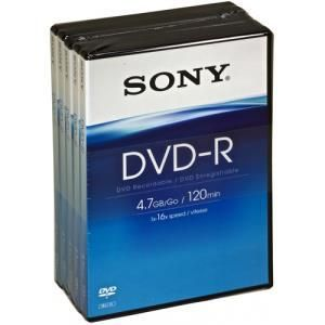 Sony DVD+R 4,7 GB 16x (5 pcs) box